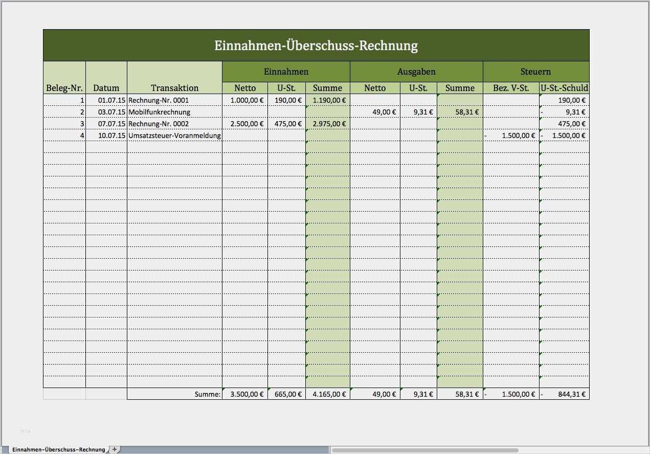 Schonste Einnahmen Ausgaben Vorlage Modelle Rechnung Vorlage Excel Vorlage Rechnungsvorlage