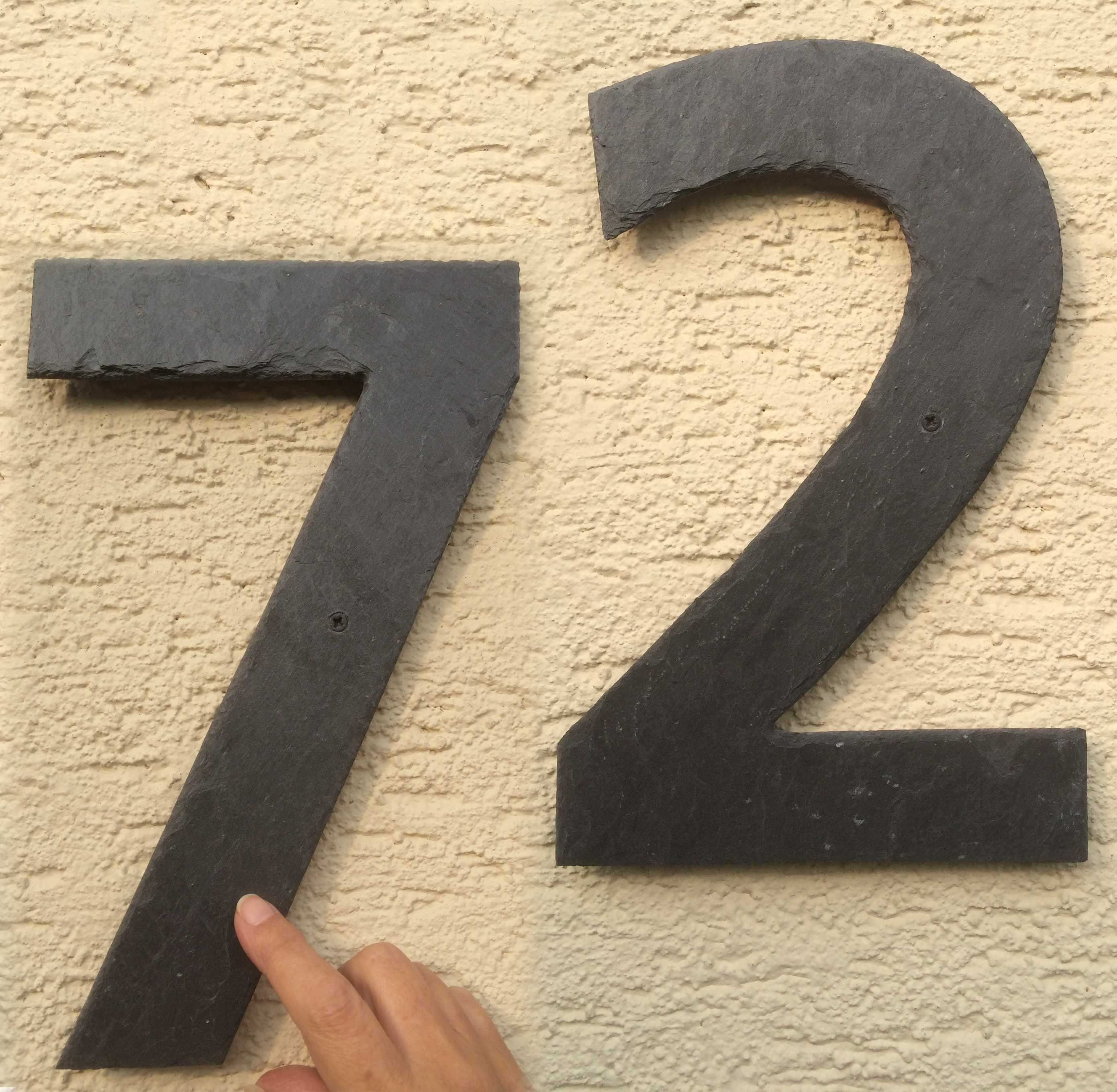 Grosse Hausnummern Liegen Im Trend Bei Schiefergalerie De Erhalten Sie Einzelne Hausnummern Bis Zu Einer Grosse Von 30 Cm Schiefer Grosse Hausnummern Hausnummern