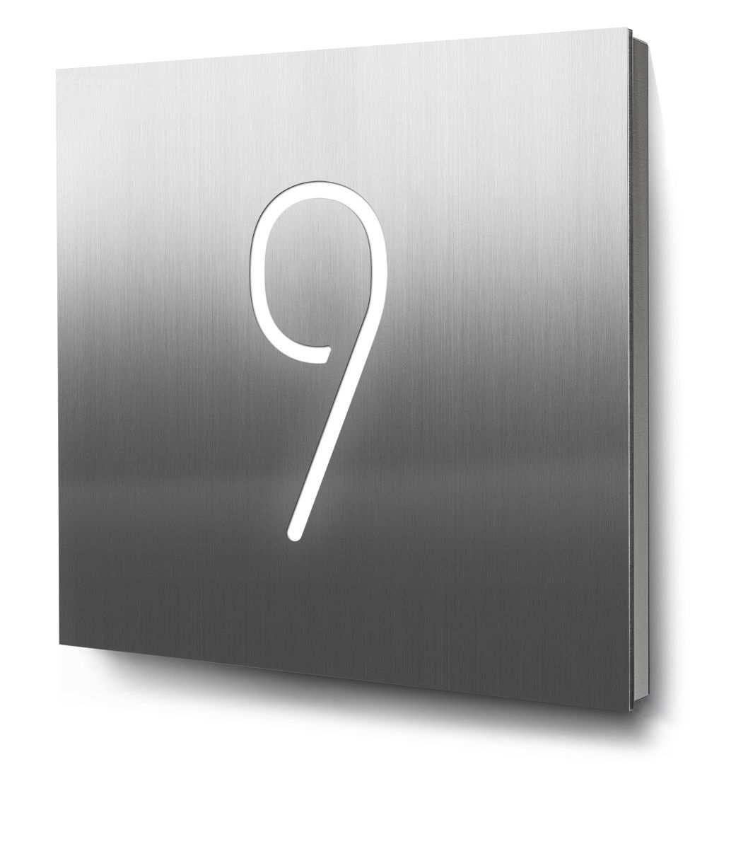Hausnummer 9 Edelstahl Beleuchtet Hausnummer Beleuchtet Beleuchten Hausnummern