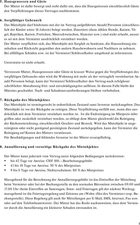 Mietvertrag Fur Moblierte Ferienwohnung Mobliertes Ferienhaus Zum Privaten Gebrauch Bis Max 3 Monate Pdf Kostenfreier Download