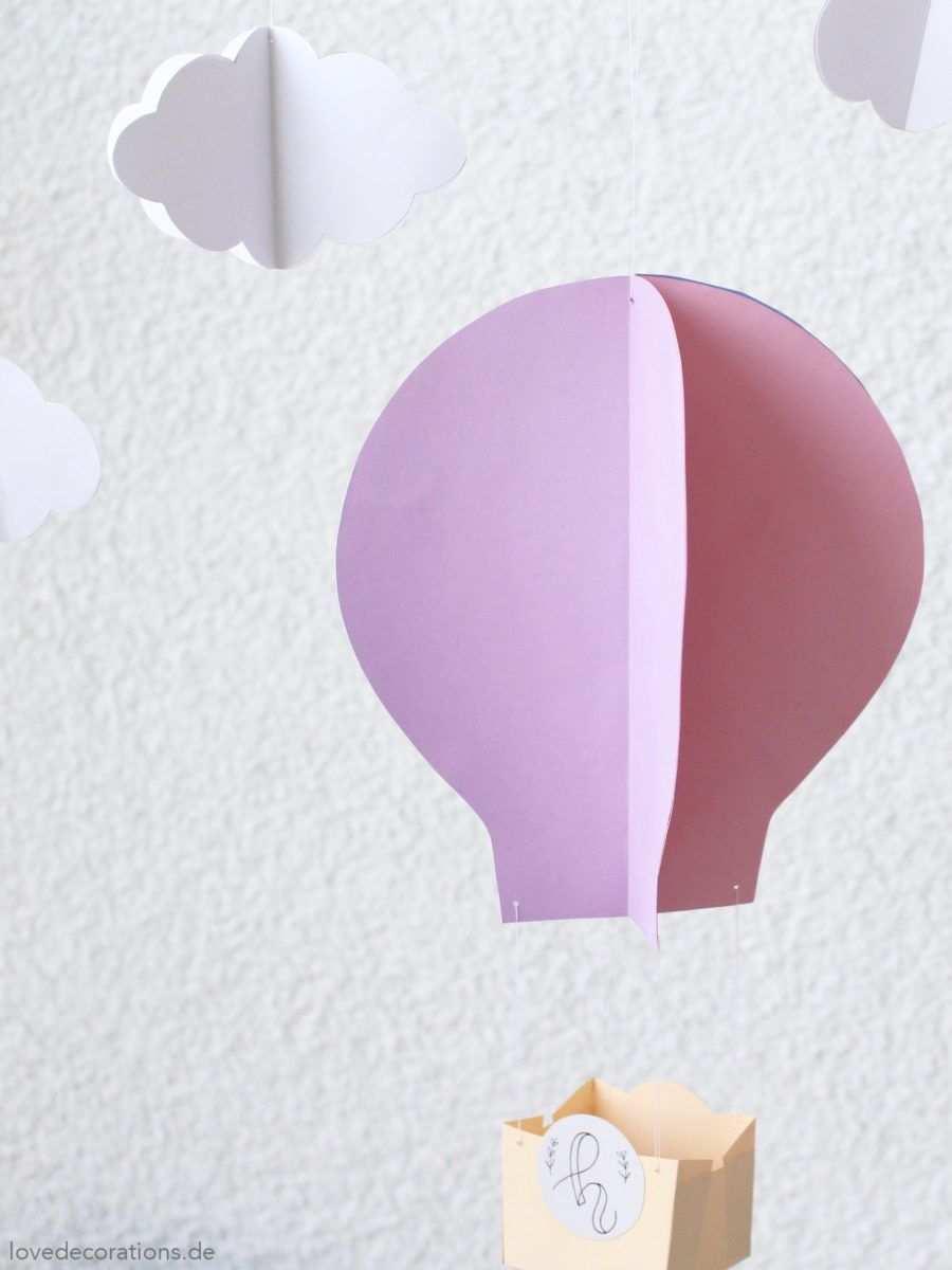 Diy 3d Heissluftballon 12giftswithlove 2017 Love Decorations Heissluftballon Heissluftballon Basteln Adventskalender Geschenke