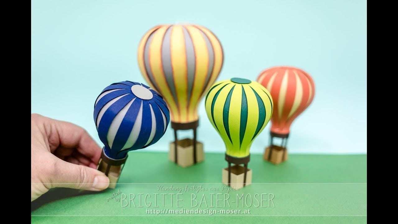 Heissluftballon Hergestellt Aus Papier Kann Z B In Eine Explosionsbox Hineingegeben Werden Es K Papier Herstellen Heissluftballon Ballonfahrt Geschenk Basteln