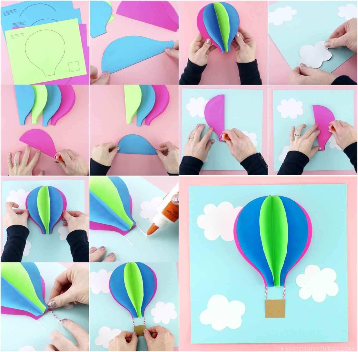 Heissluftballon Basteln 10 Ideen Zur Hochzeit Geburt Oder Als Kostum Heissluftballon Basteln Heissluftballon Basteln