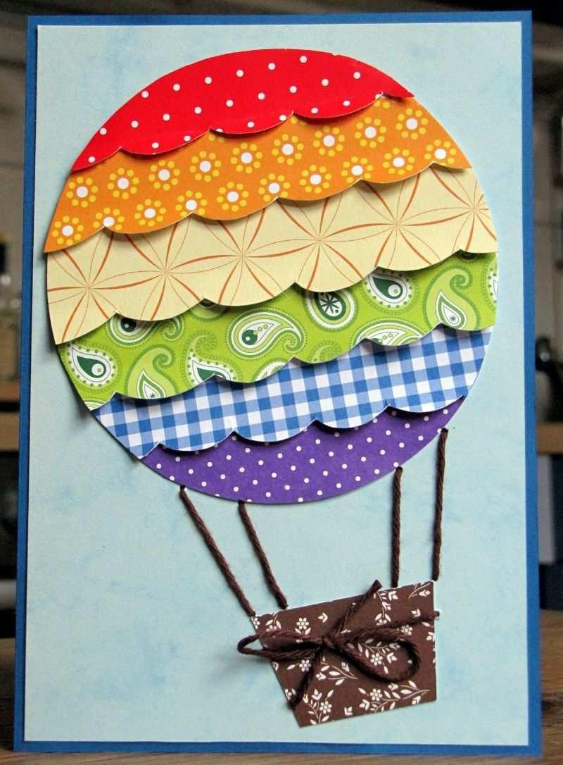 Thema Luft Heissluftballon Basteln Heissluftballon Basteln Heisluftballon Basteln Geburtstagskarte Basteln Kinder