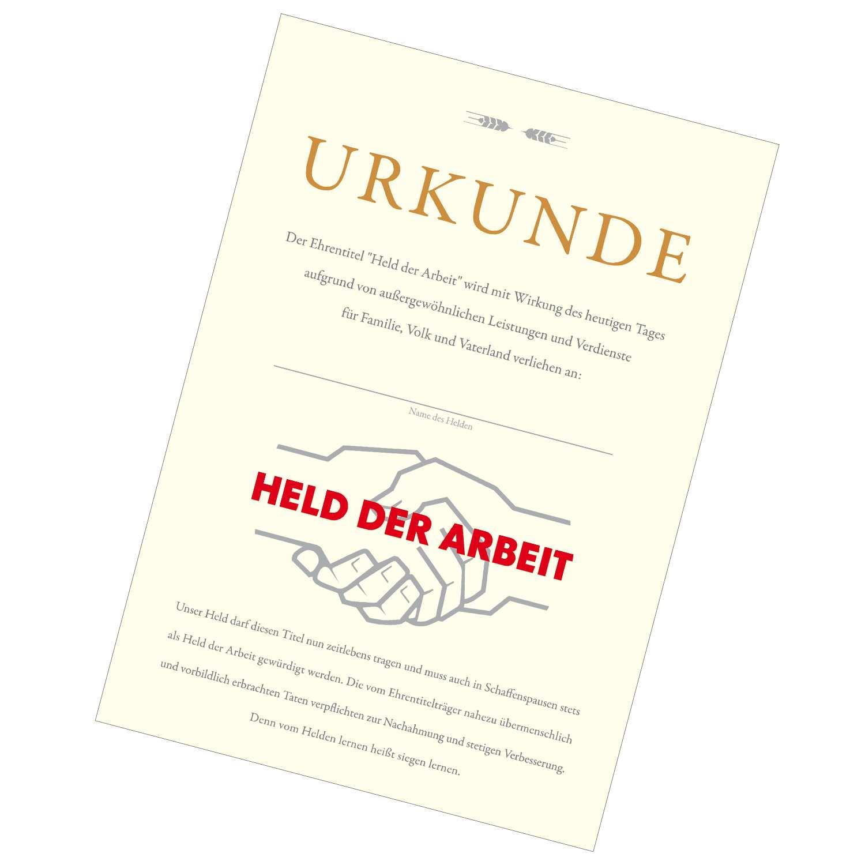 Held Der Arbeit Urkunde Ostprodukte Versand De