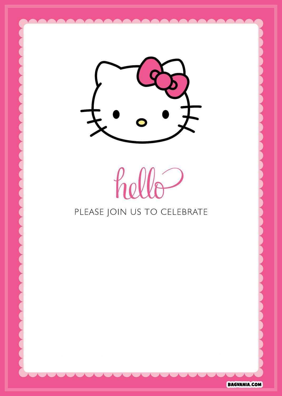 Free Printable Hello Kitty Birthday Invitations Bagvania Free Printable Hello Kitty Invitations Hello Kitty Birthday Invitations Hello Kitty Invitation Card
