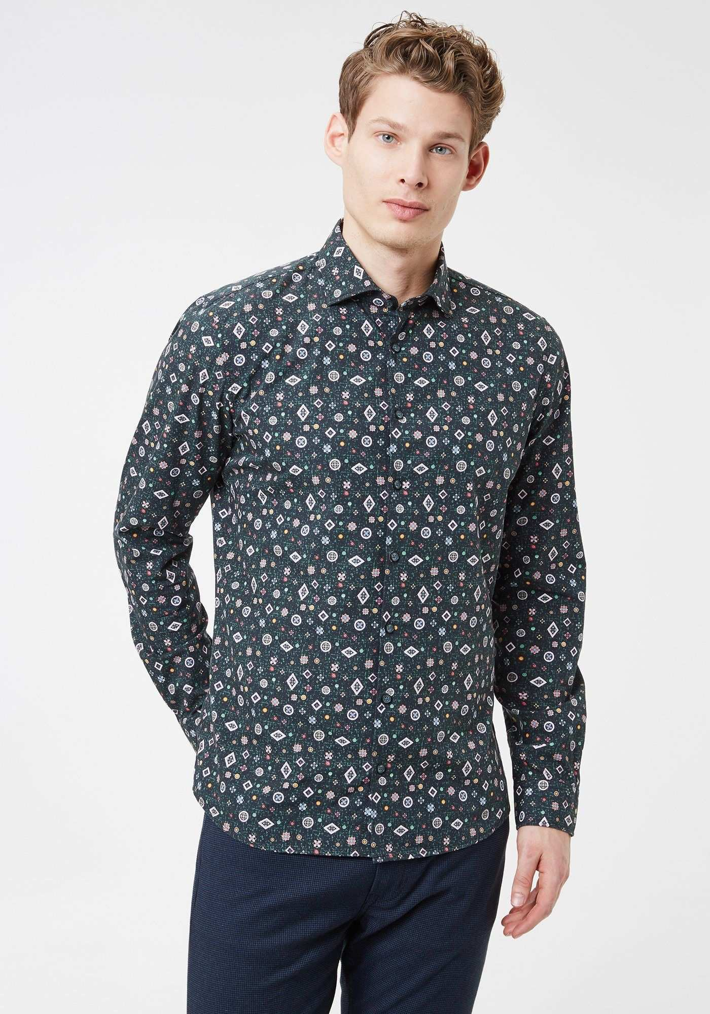 Otto Kern Hemd Popelinehemd Mit Grafikprint Slim Fit Jetzt Bestellen Unter Https Mode Ladendirekt De Herren Bekleidung Hemden S Hemd Herren Mode Modisch