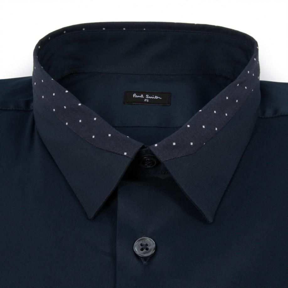Paul Smith Men S Shirts Navy Contrast Collar Shirt Manner Hemden Manner Outfit Hemdkragen