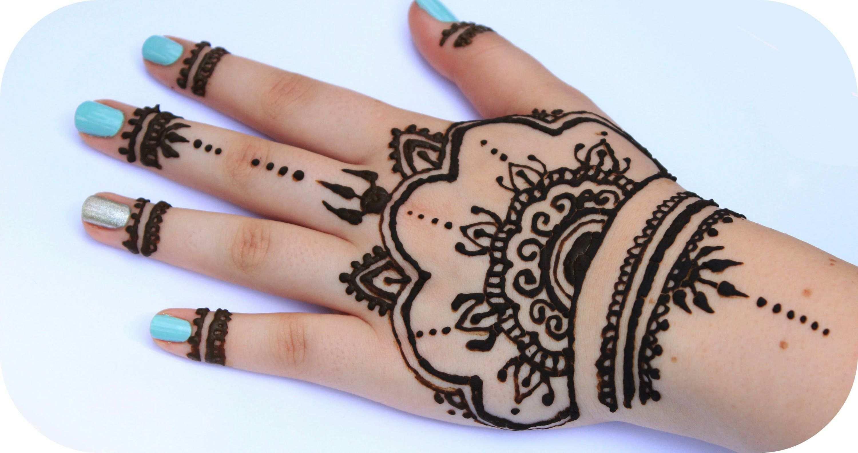 Henna Tutorial 3 Ganze Hand Sanny Kaur Tatuaggi Con Henna Henne Disegno Cuore
