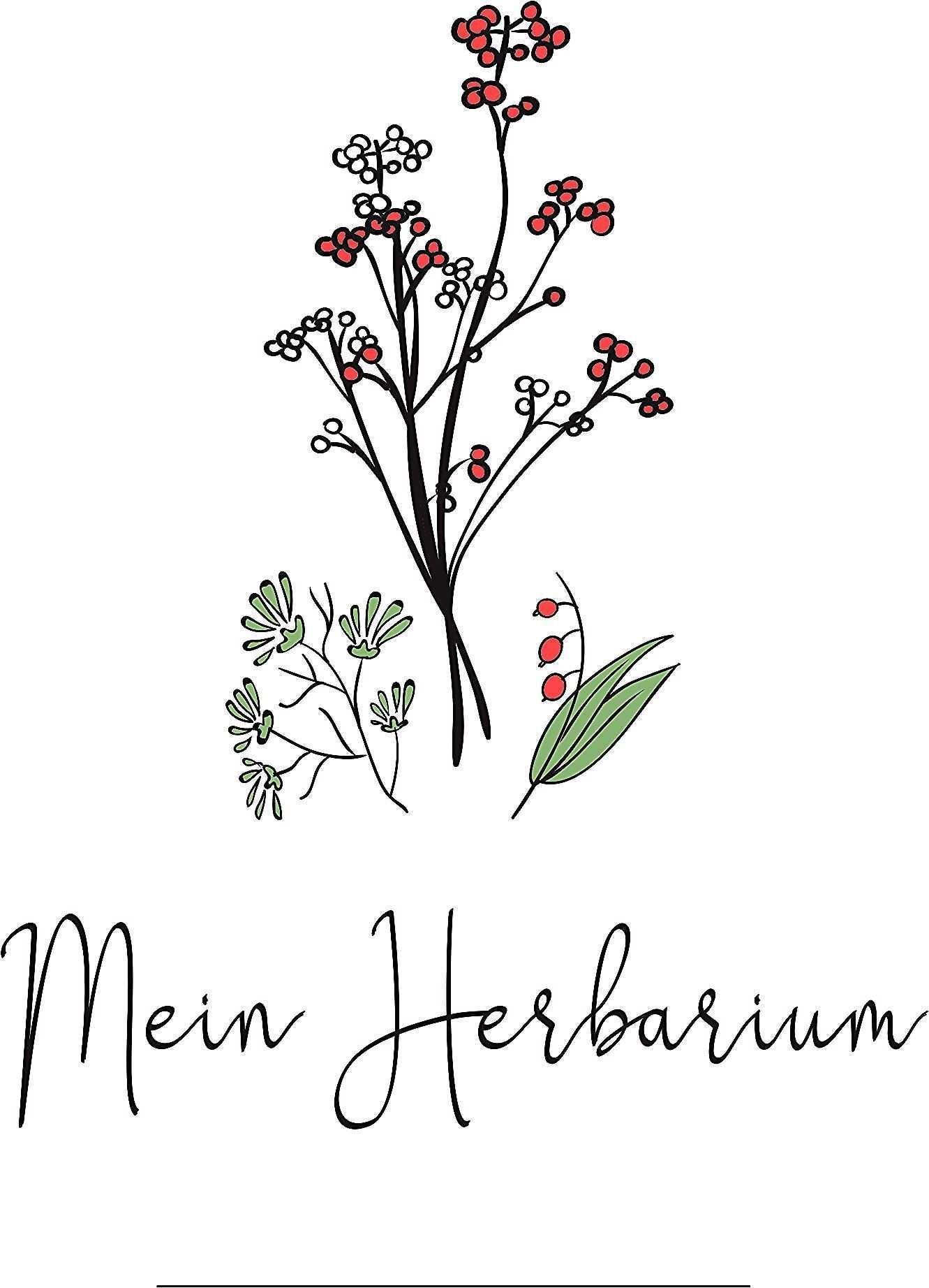 Dieses Herbarium Deckblatt Und Weitere Kostenlose Deckblatter Im Pdf Format Zum Ausdrucken Findet Ihr Auf Kribbelbunt De Herbarium Family Travel Quotes Cover