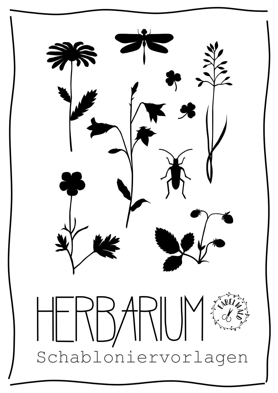 Schabloniervorlagen Herbarium Fabelwalds Webseite In 2020 Herbarium Vorlage Vorlagen Ausdrucken