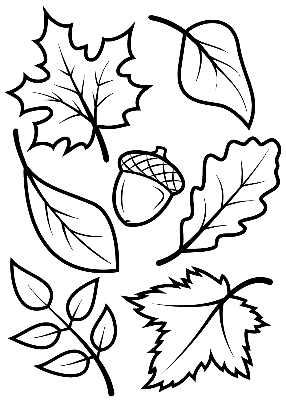 Leaf Coloring Kids Learning Activity Fall Leaves Coloring Pages Fall Coloring Sheets Leaf Coloring Page