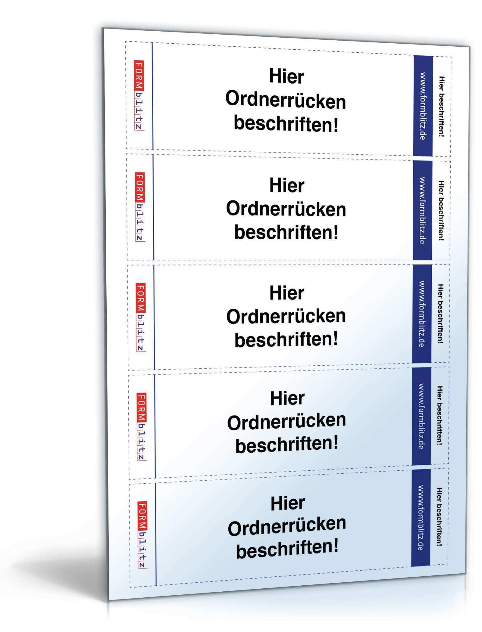 Ordnerrucken Fur Leitz Ordner Hochformat 5 3 X 18 8