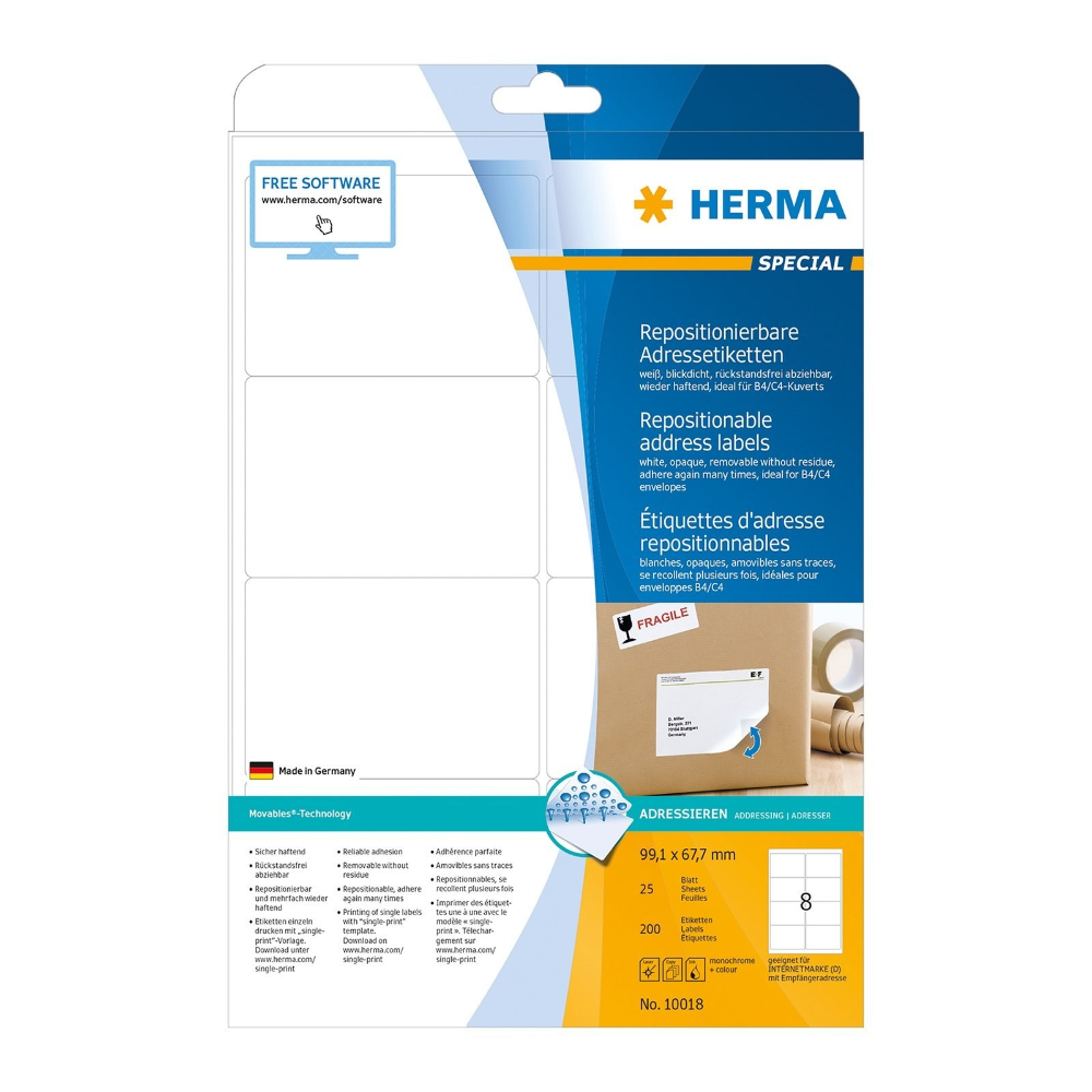 Buy Herma Removable Address Labels A X Mm White Shm In 99 1 X 67 7 Mm Label Template 10 Professional Templates Ideas Label Templates Labels Address Labels