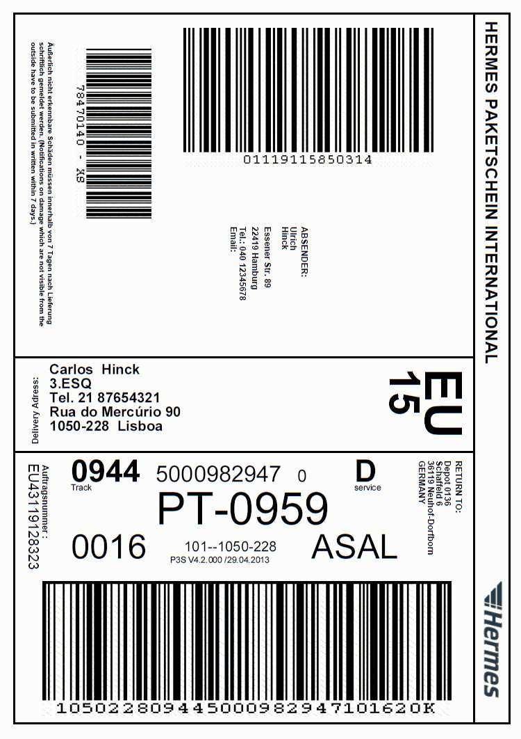 Mit Einem Hermes Paket Nach Lissabon Besonderheiten Bei Portugiesischen Adressen