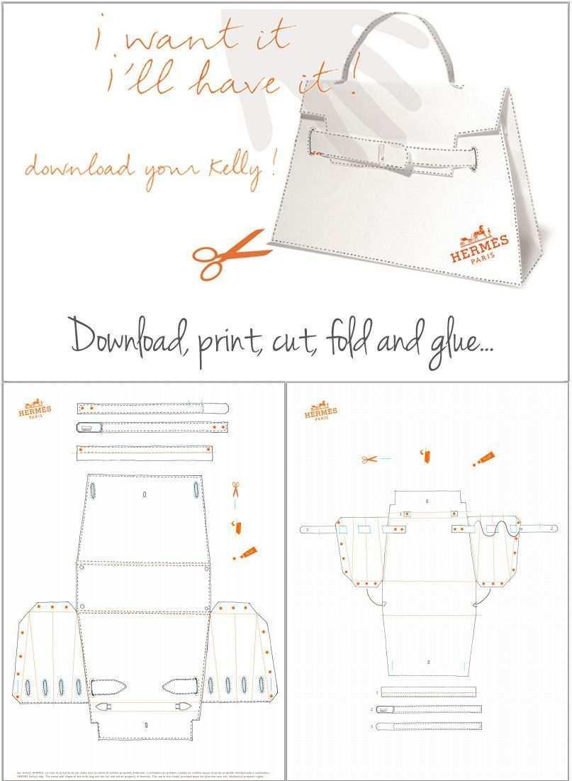 Diy Hermes Kelly Bag Origami Paper Craft Hermes Kelly Bag Kelly Bag Diy Bags Purses