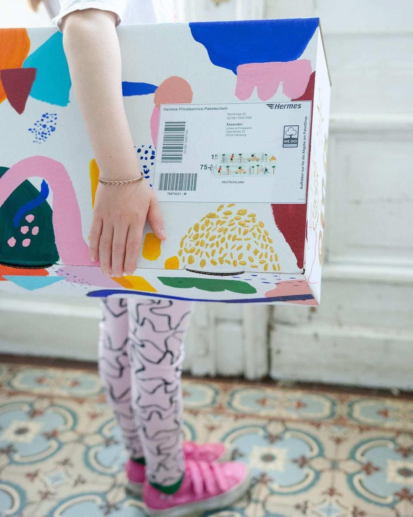 Paketorigami Mit Hermes Unser Wir Vermissen Euch Paket Pinkepank Basteln Mit Papier Diy Bastelideen Selbermachen Geschenke