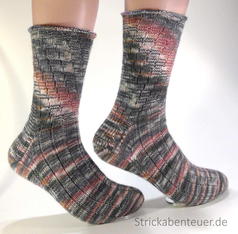 Handgestrickte Socken Muster Stino Wolle Tauschenschon Wilder 10 2016 Socken Socken Stricken Muster Socken Stricken
