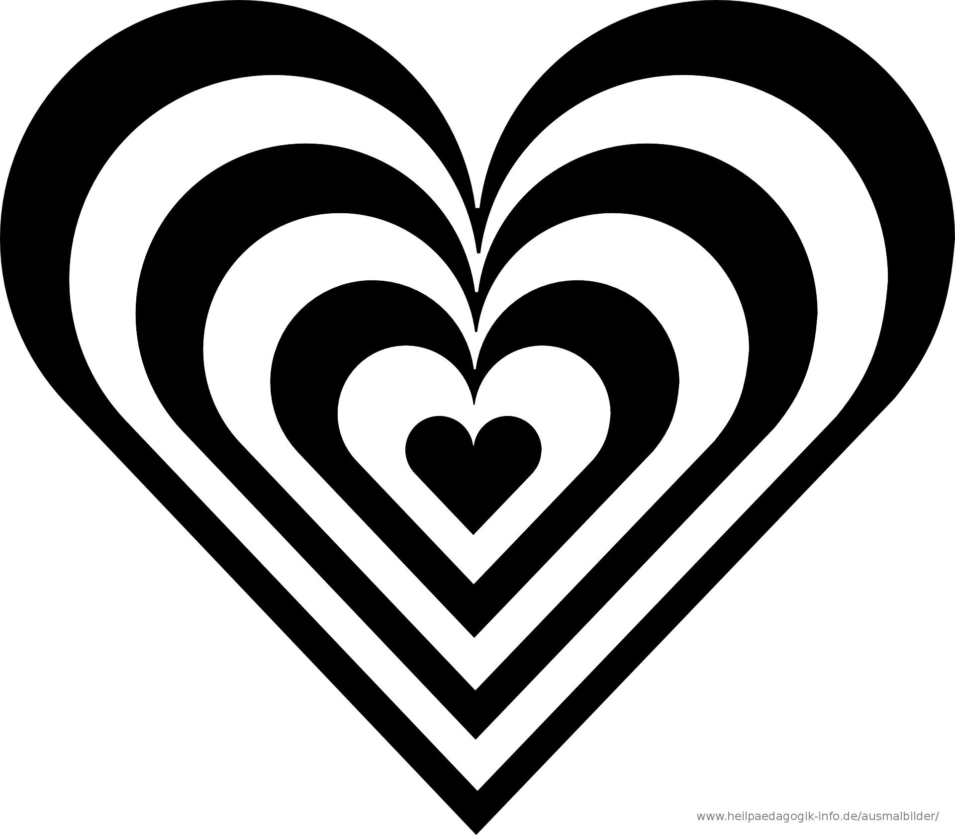 Herz Malvorlage 08 Ausmalbilder Bucher Falten Clipart