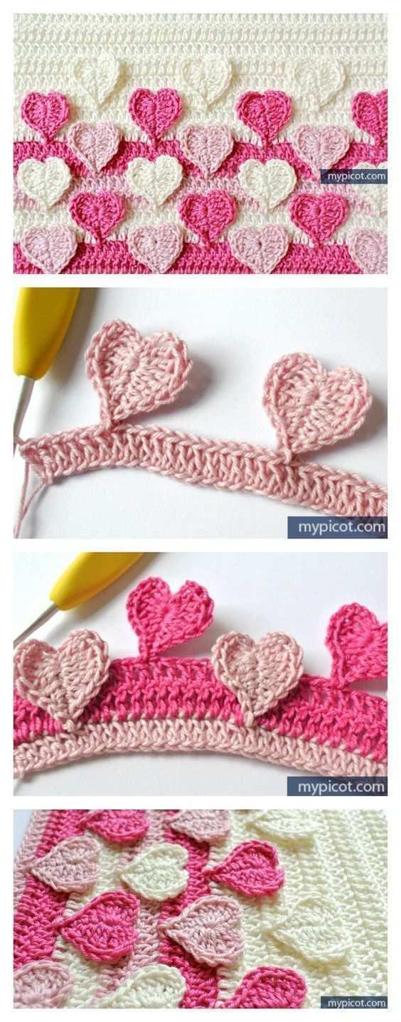Crochet Heart Stitch Free Patterns Crochetelements Crochet Heart Stitch Free Patterns Crochet Free Hakelmuster Fur Herzen Hakelstiche Kostenlos Hakelborte