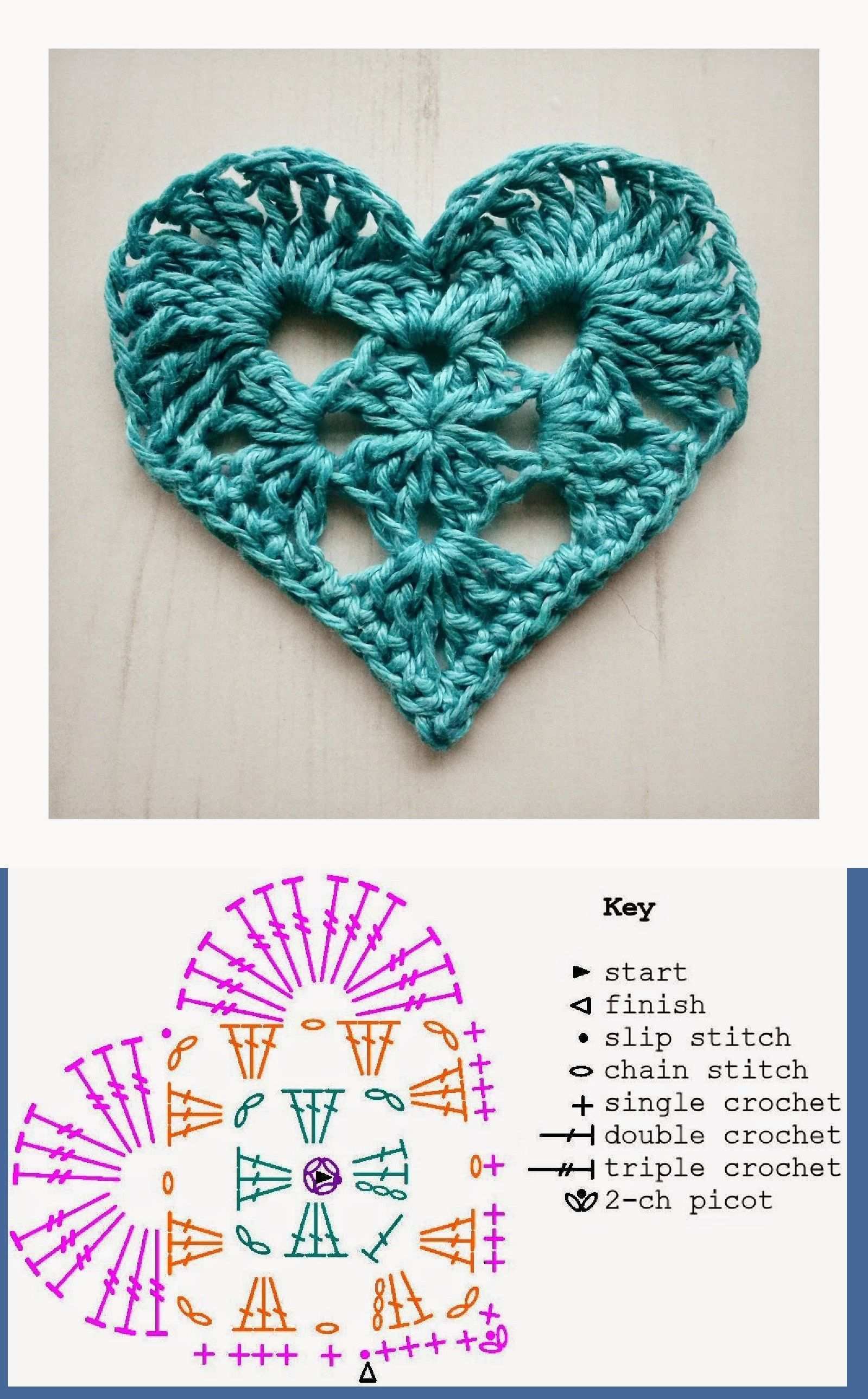 Granny Heart For Valentine S Day Written Instructions On This Blog And Downloadable Instructions On Ravel Herz Hakeln Anleitung Hakeln Muster Gehakeltes Herz