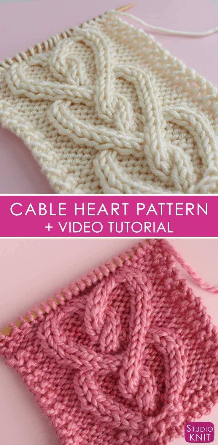 How To Knit A Cable Heart Strickmuster Stricken Kostenlose Strickmuster