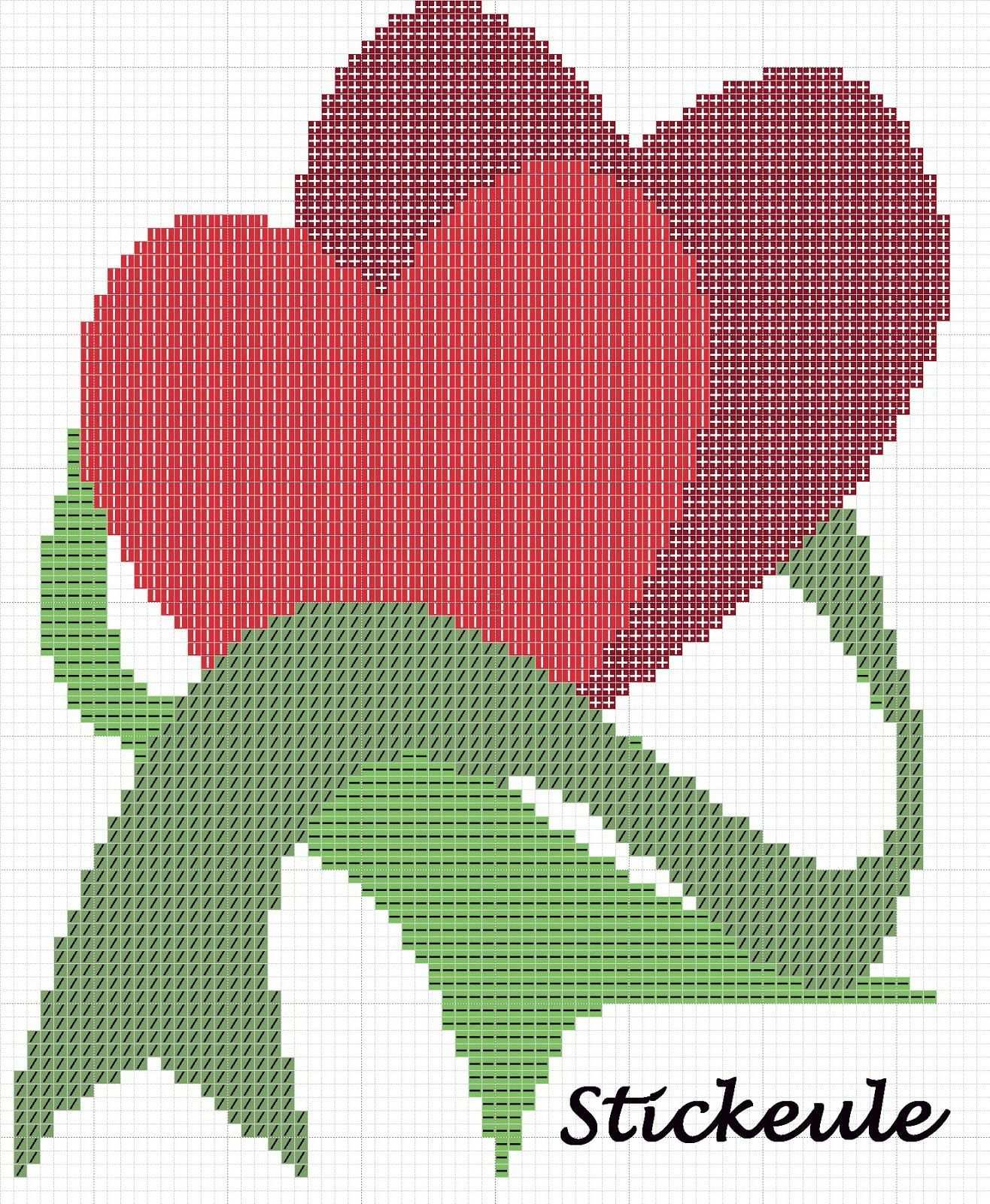 Point De Croix Cross Stitch Stikeule Kreuzstich Liebe Kreuzstich Herzen Kreuzstich Stickvorlagen