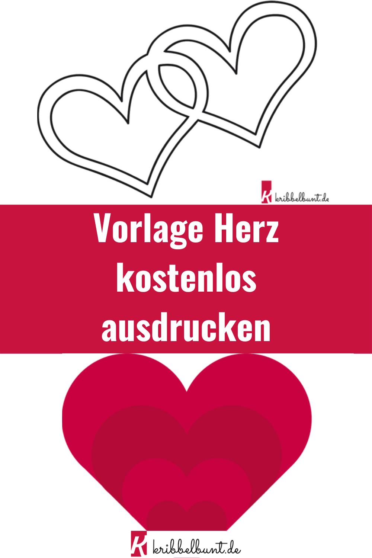 Herz Vorlage Zum Download Herz Vorlage Bucher Falten Vorlage Herzschablone