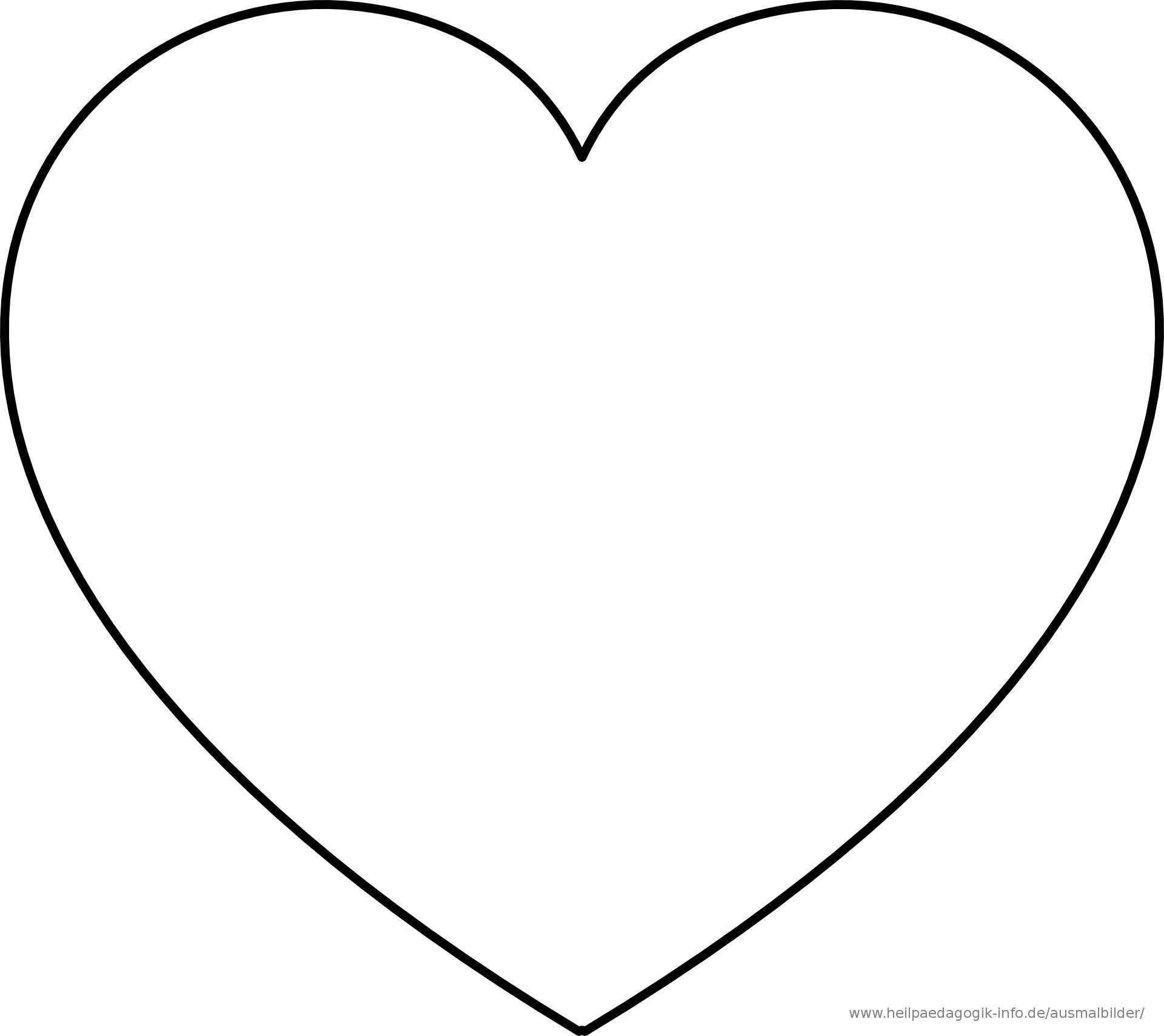 Malvorlagen Herzen Kostenlos Herz Ausmalbild Herz Vorlage Herzschablone