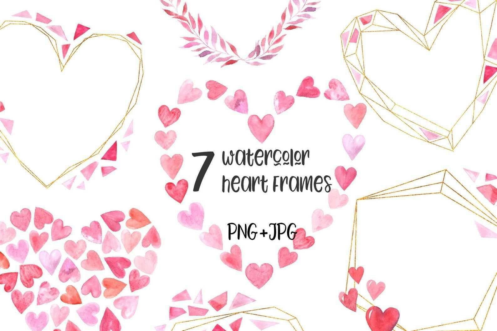 Aquarell Valentine Herz Kranz Clipart Valentines Day Karte Rahmen Feder Hochzeit Clip Art Handbemalt Mode Vorlage Png 6 Clipart Hochzeit Clipart Herz Kranz