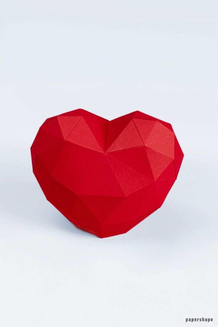 Herz Papierherz Bastelarbeiten Aus Papier Und Pappe Papierskulptur