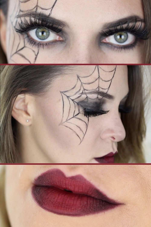 Halloween Makeup Spinne Last Minute Halloween Makeup Spinne Halloween Makeup Halloween Schminken Kinder