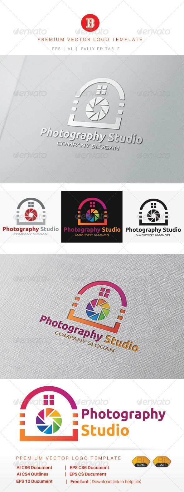 Photography Studio Studio Photography Photography Geometric Logo