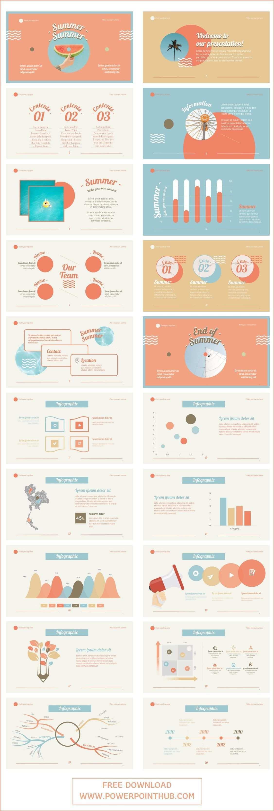 Summer Powerpoint Template Infographic Infographictemplate Powerpoint Summe Powerpoint Hintergrund Vorlagen Powerpoint Vorlagen Ideen Fur Prasentationen
