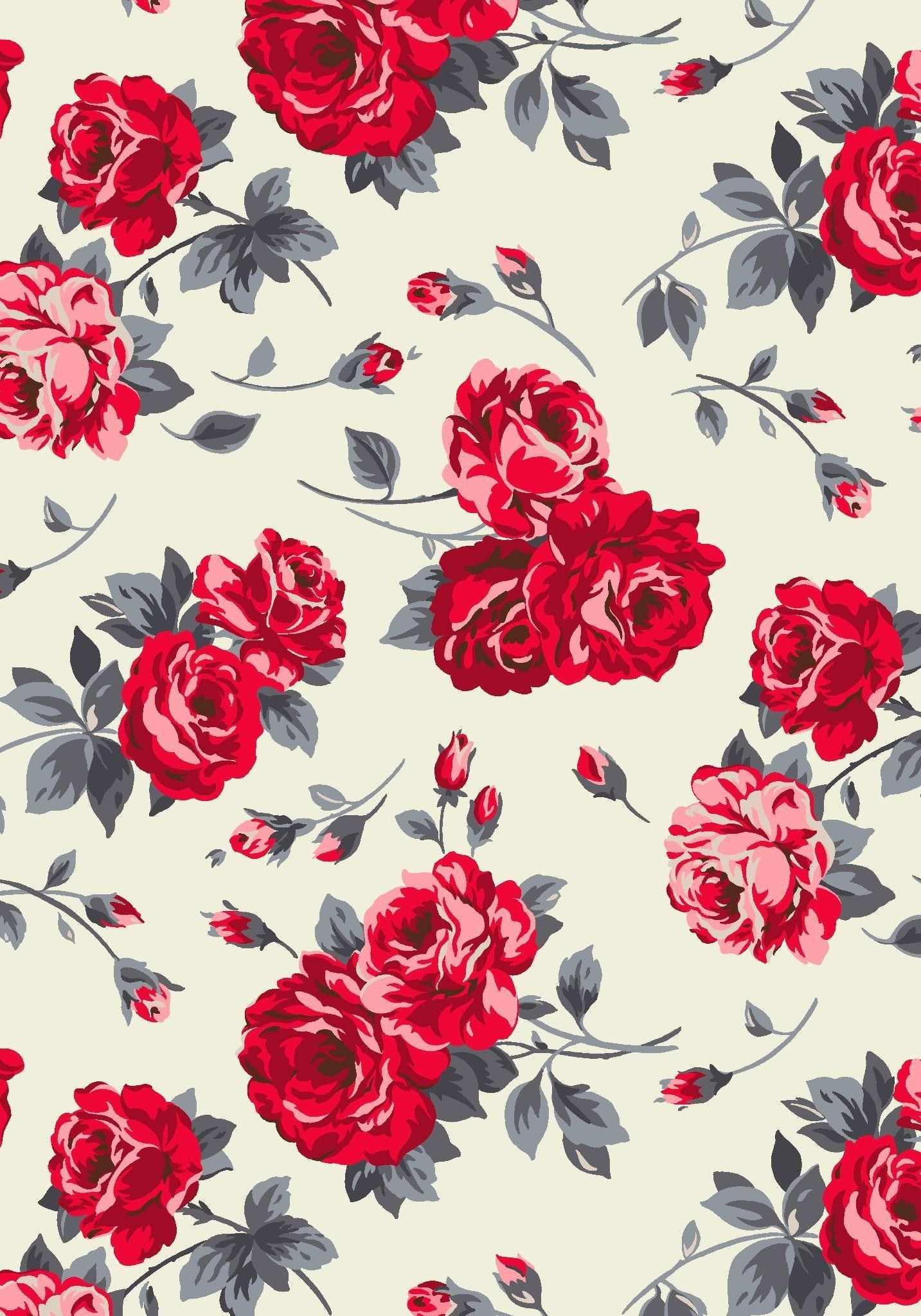 Large Rosenmuster Hintergrundbilder 1433x2047 Blumentapete Hintergrundbilder Vintage Blumen Wallpaper