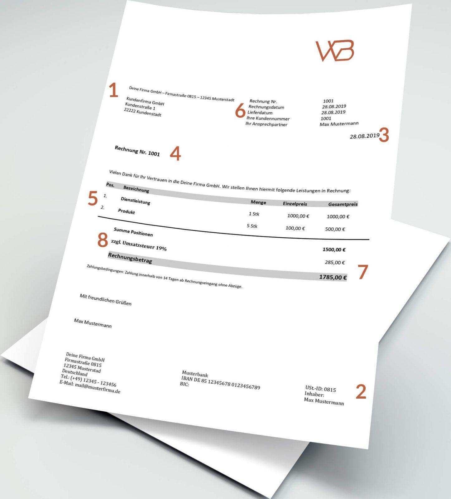 Rechnung Schreiben Faq Kostenloses Rechnungsmuster Zum Download