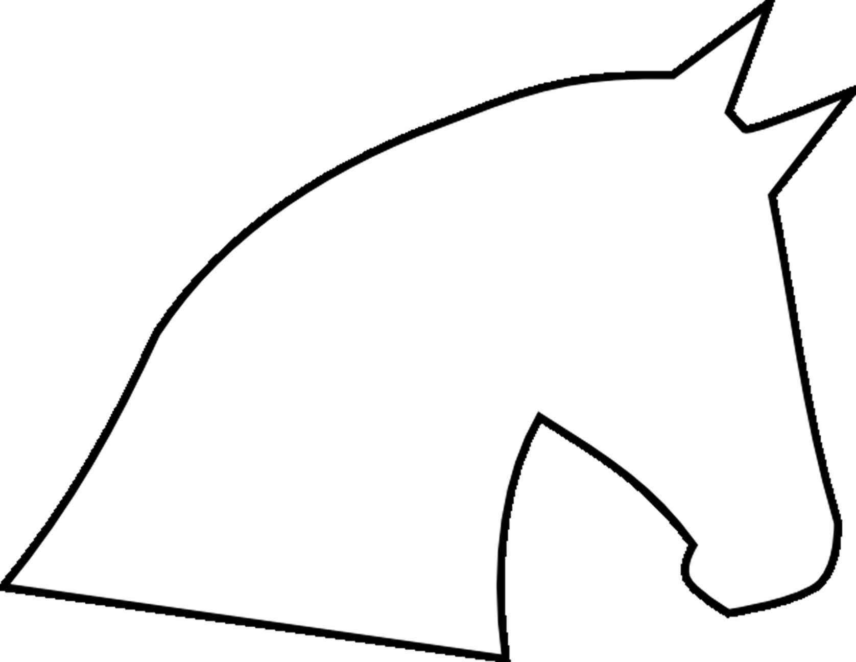 Pics For Horse Craft Template Clipart Best Horse Crafts Hobby Horse Horse Template