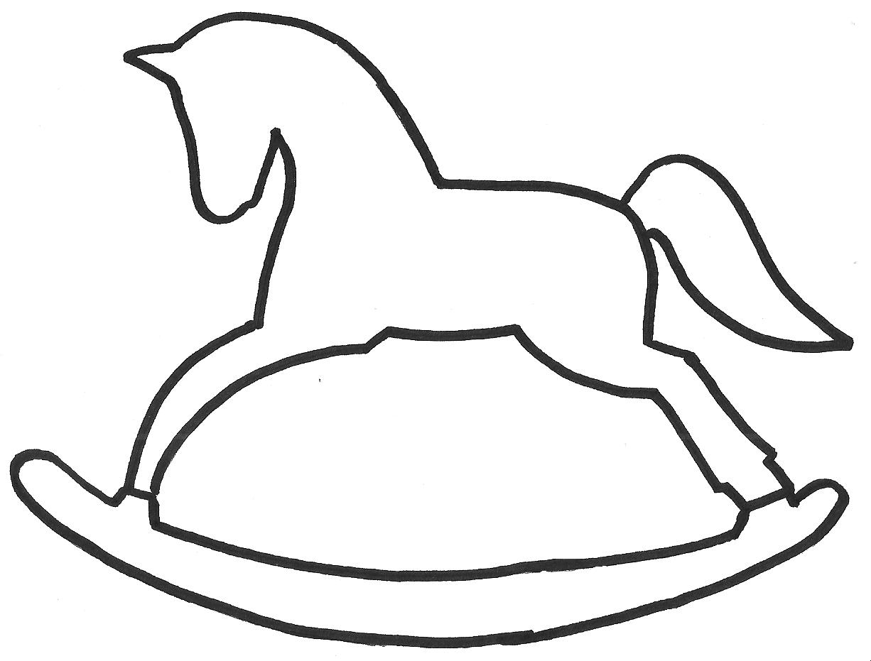 Szablon Konik Na Biegunach Rocking Horse Template Nahen Weihnachten Dekorationsideen Weihnachten Weihnachten Holz