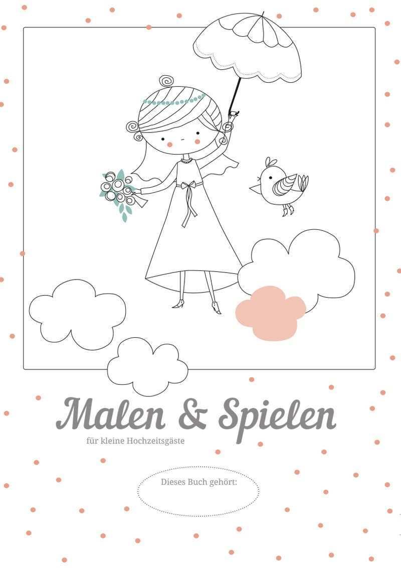 Hochzeitsmalbuch Zum Ausdrucken Kostenloser Download Kindertisch Hochzeit Kinder Auf Der Hochzeit Hochzeit Aktivitaten