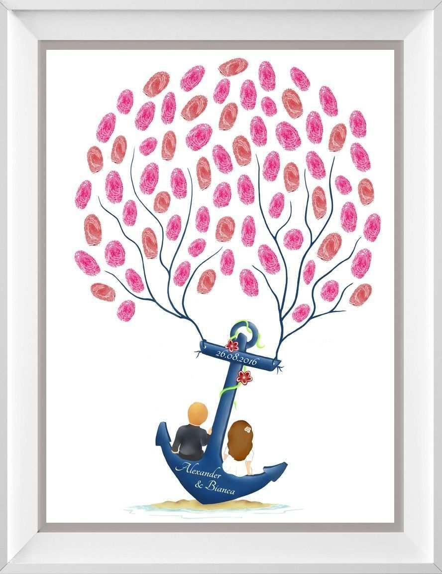 Fingerabdruck Baum Wedding Tree Zur Hochzeit Fingerabdruckbaum Wedding Tree Fingerabdruck Baum Fingerabdruck Hochzeit Gastebuch Hochzeit