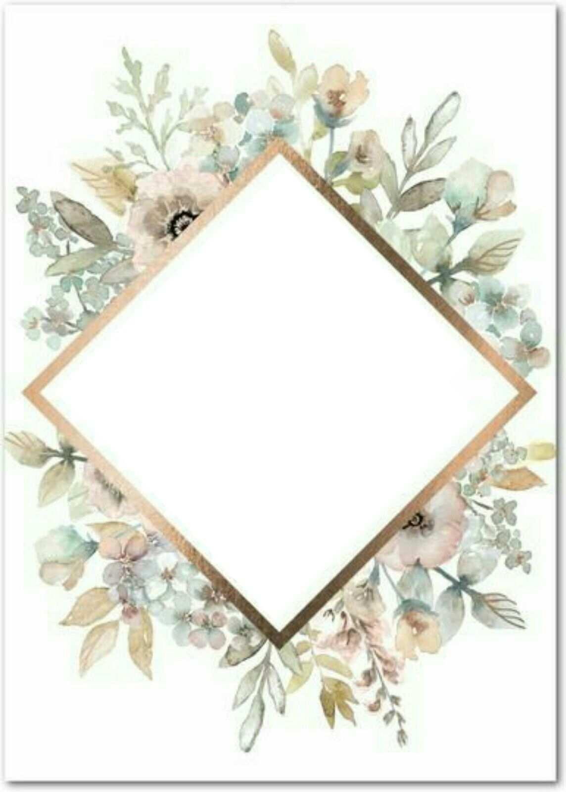 Pin By Hatice Mullaoglu On Diy Wedding Cards Flower Frame Floral Border