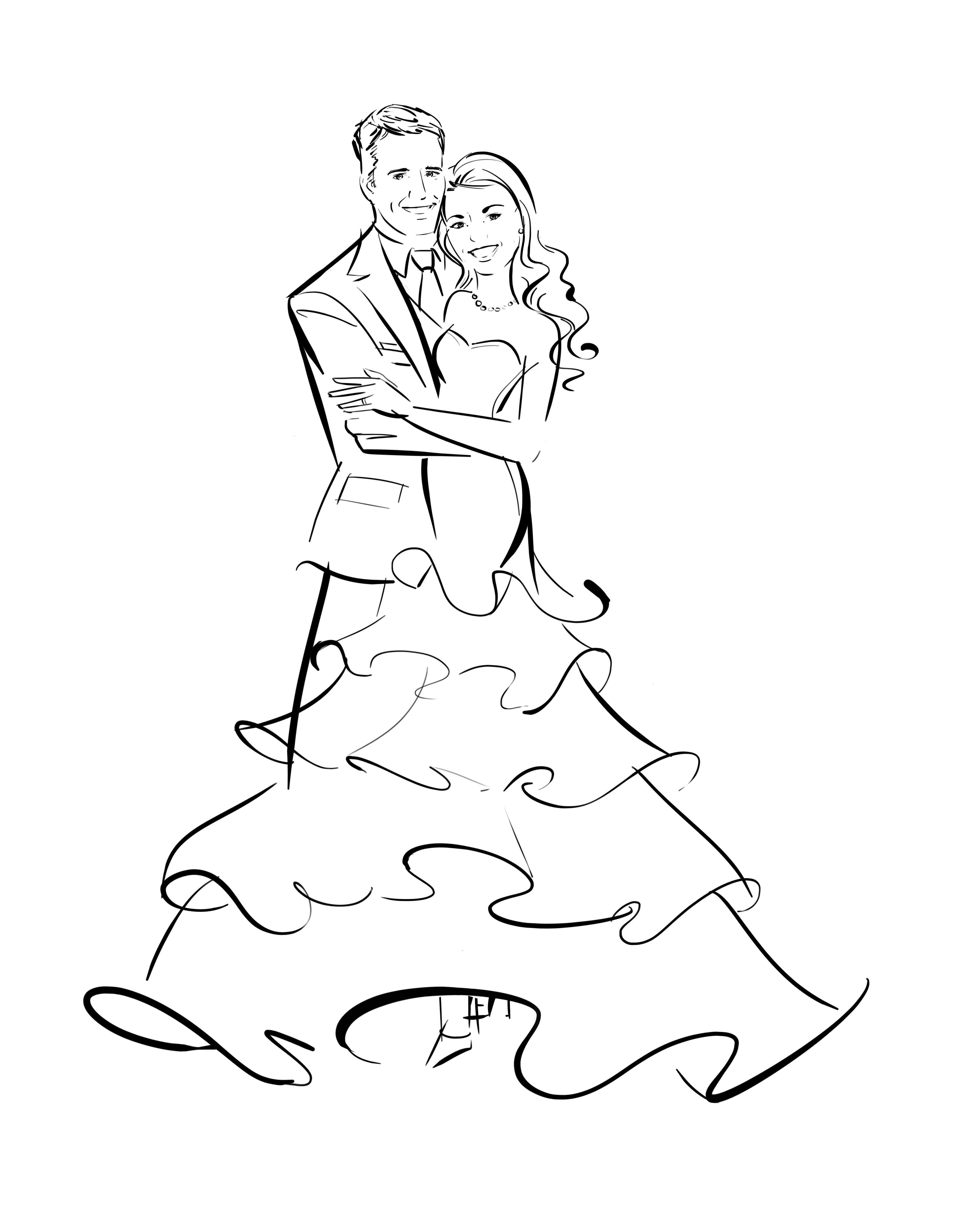Such A Great Idea An Illustration Of You And Your Sweetie Thanks You Notes Ilustracoes Panda Desenho Casamento