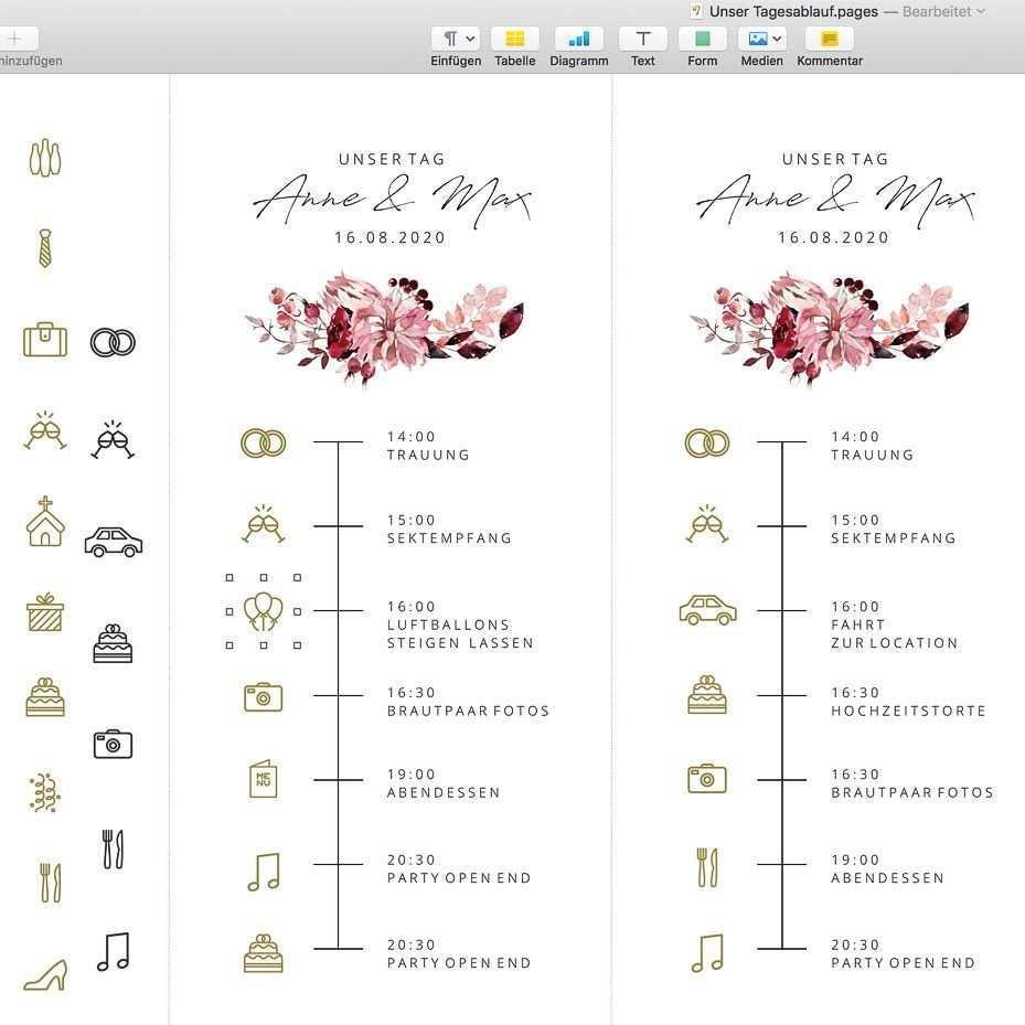 Timeline Hochzeit Icons Symbole Und Vorlage Zum Download In 2020 Hochzeit Hochzeitseinladungen Diy Tagesablauf Hochzeit