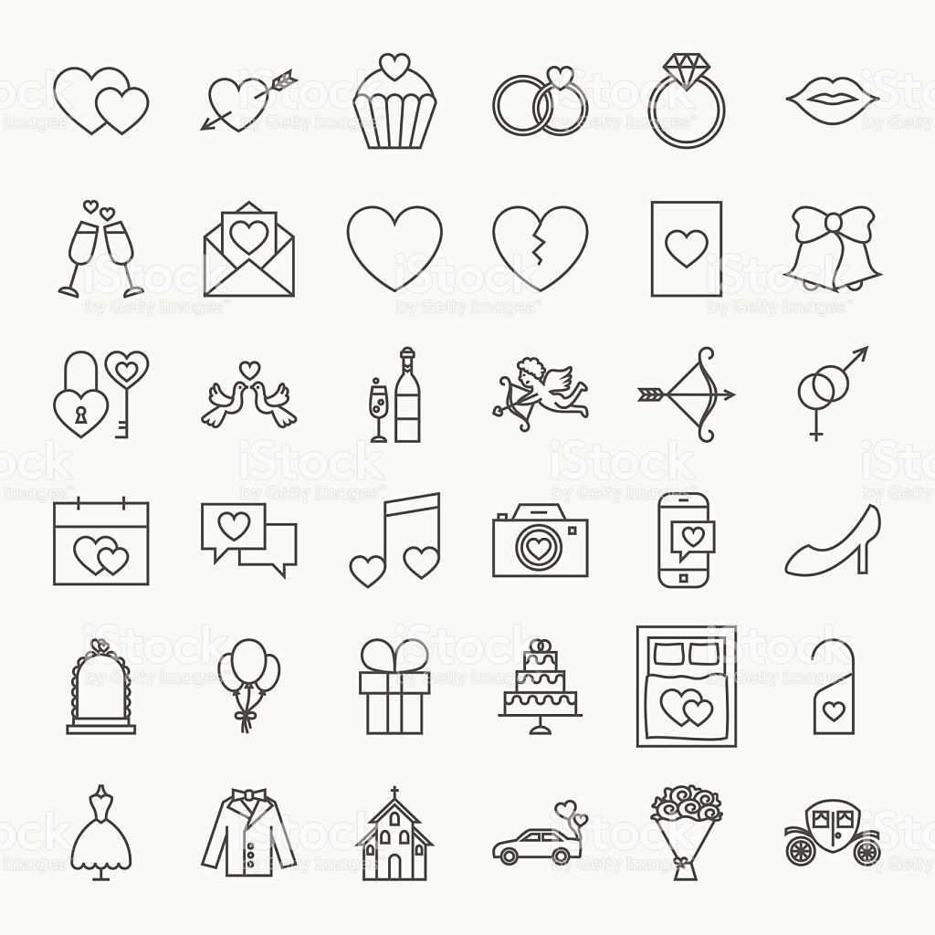 Wedding Line Icons Set Vector Collection Of Modern Thin Outline Save Icone De Casamento Padrinho De Casamento Convite Padrinhos Casamento
