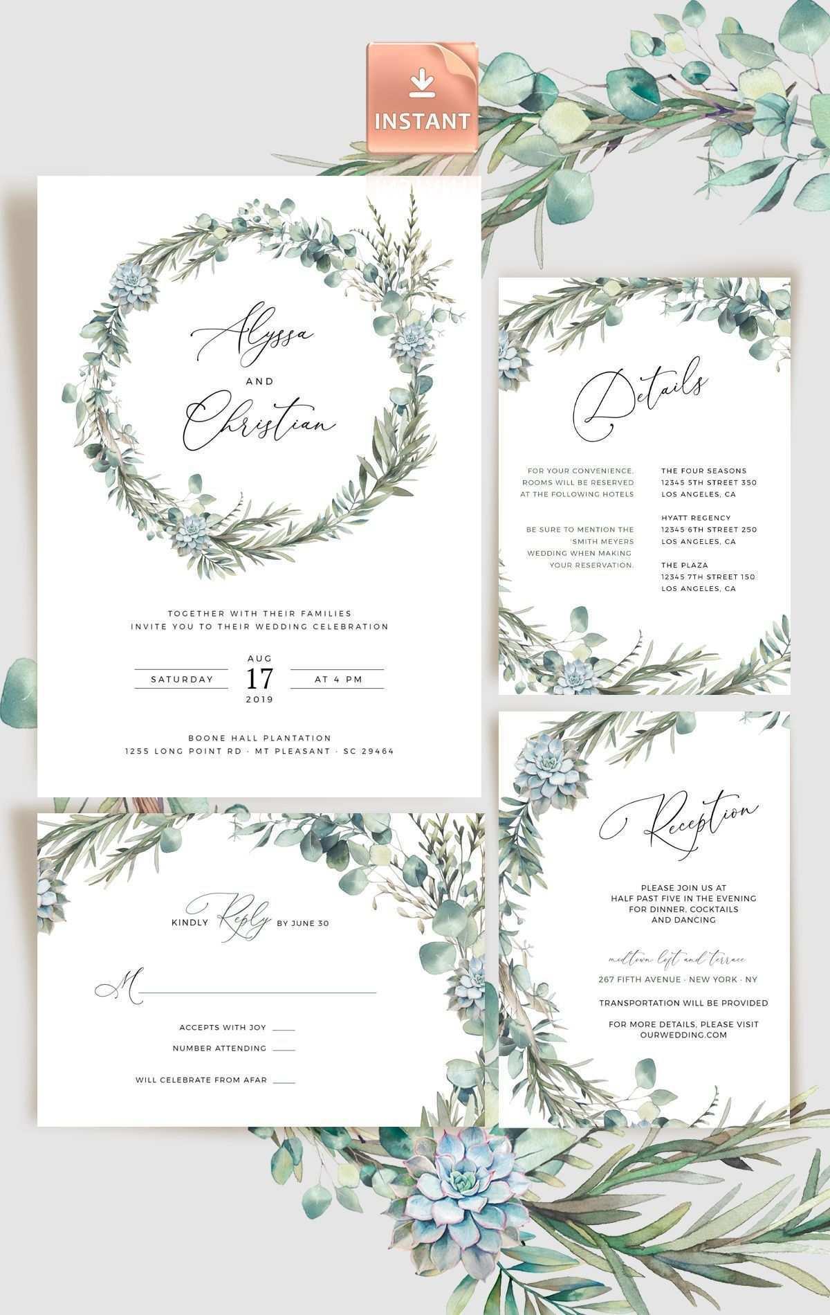 Hochzeit Einladung Bundel Rosmarin Eukalyptus Vorlagen Fur Hochzeitseinladungen Ideen Fur Die Hochzeit Hochzeitseinladung