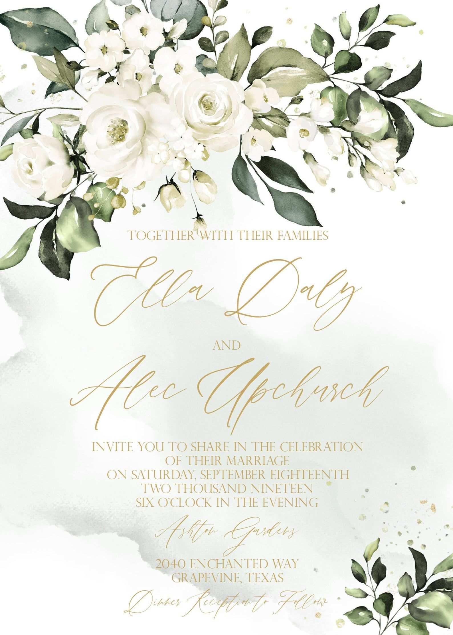 Southern Wedding Invitation Template Magnolia Wedding Invitation Printable Rustic White Floral Watercolor Wedding Invitation Diy Download In 2020 Mit Bildern Hochzeit Hochzeitsinspirationen Blumenrahmen