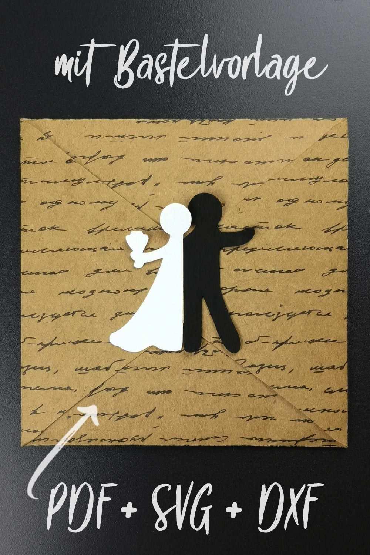 Bastelvorlage Plotterfreebie Fur Hochzeitskarte Mit Brautpaar Gluckwunschkarte Zur Hochzeit Mit E Gluckwunschkarte Hochzeit Karte Hochzeit Brautpaar Basteln