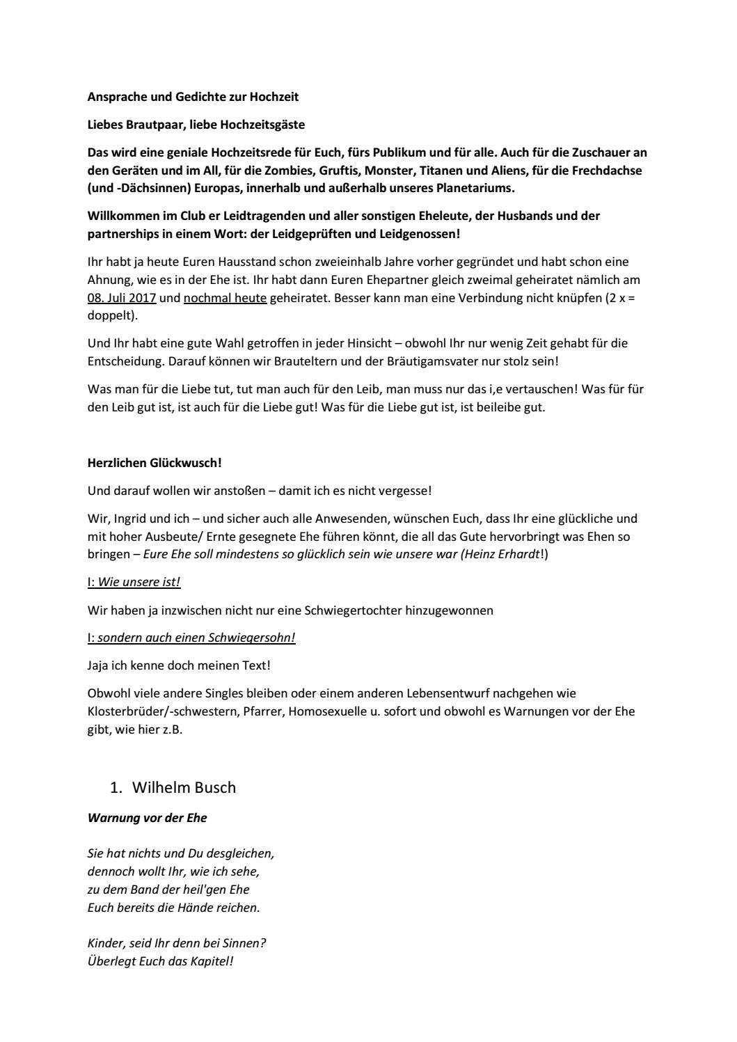 Hochzeitsrede Und Gedichte Zur Hochzeit By Kruis Klaus Issuu