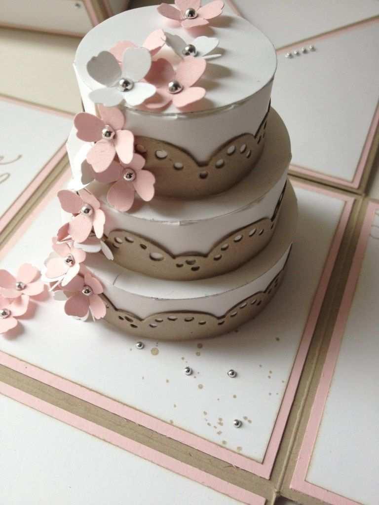 Hochzeitstorte Aus Pappe Geburtstagstorte Hochzeitstorte Basteln Explosionsbox Papierkuchen
