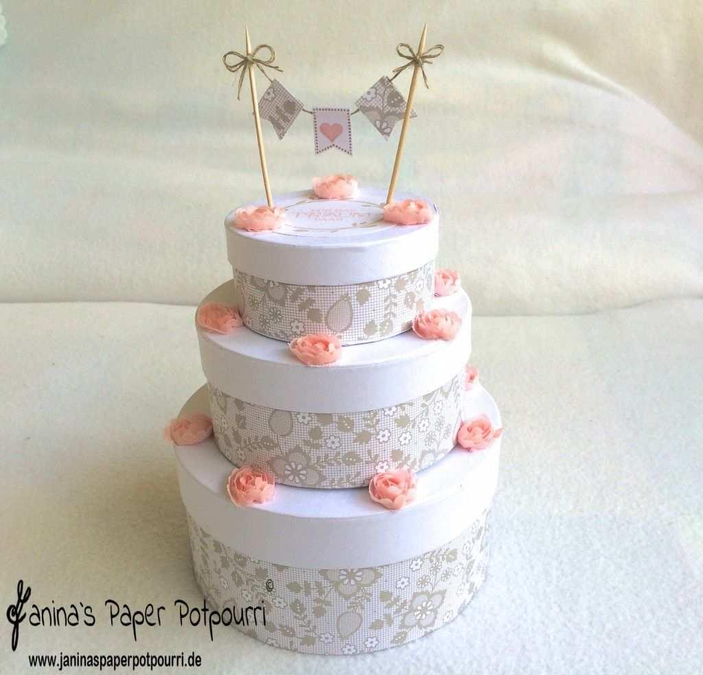 Hochzeitstorte Ohne Kalorien Janina S Paper Potpourri Hochzeitstorte Basteln Geschenkbox Hochzeit Hochzeitstorte